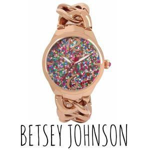 NWT [Betsey Johnson] rose gold bracelet watch